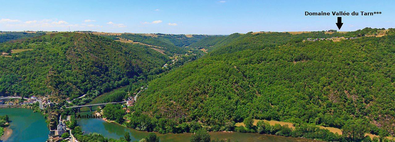 Camping dans le Tarn au coeur de la vallée
