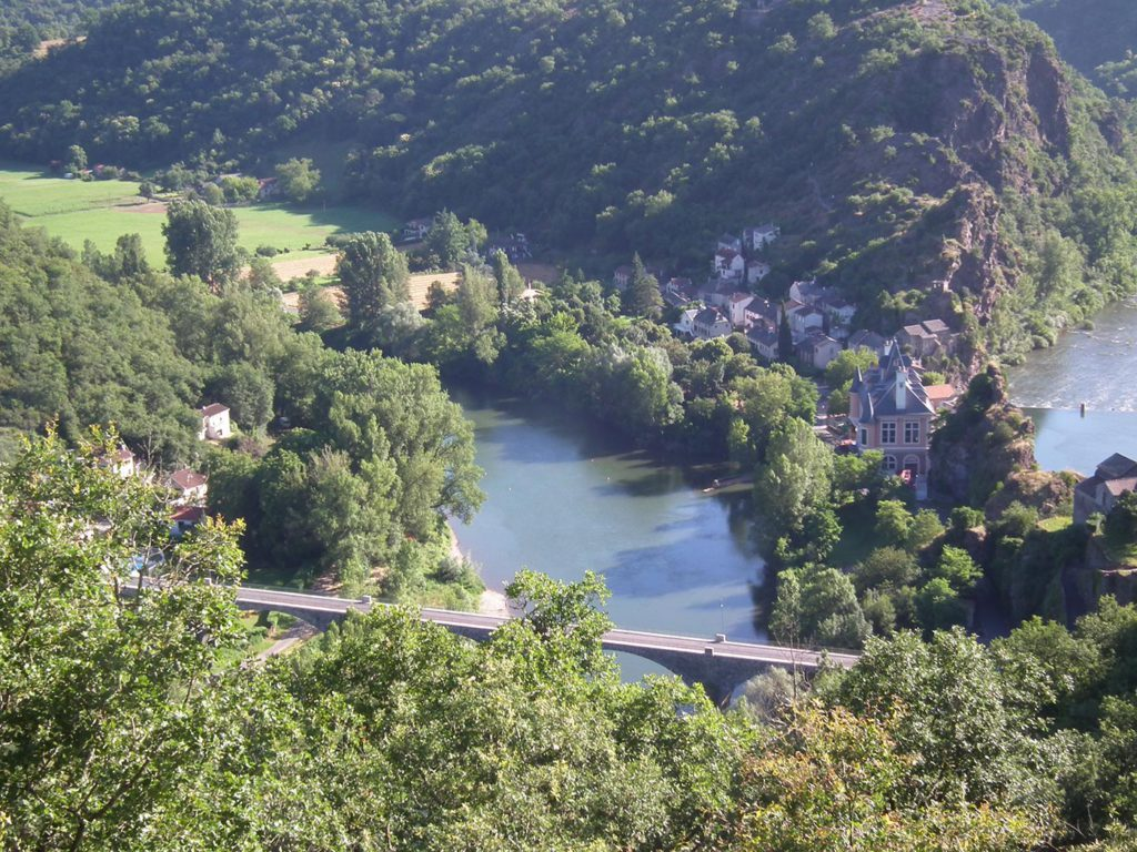 Photo des hauteurs du Tarn