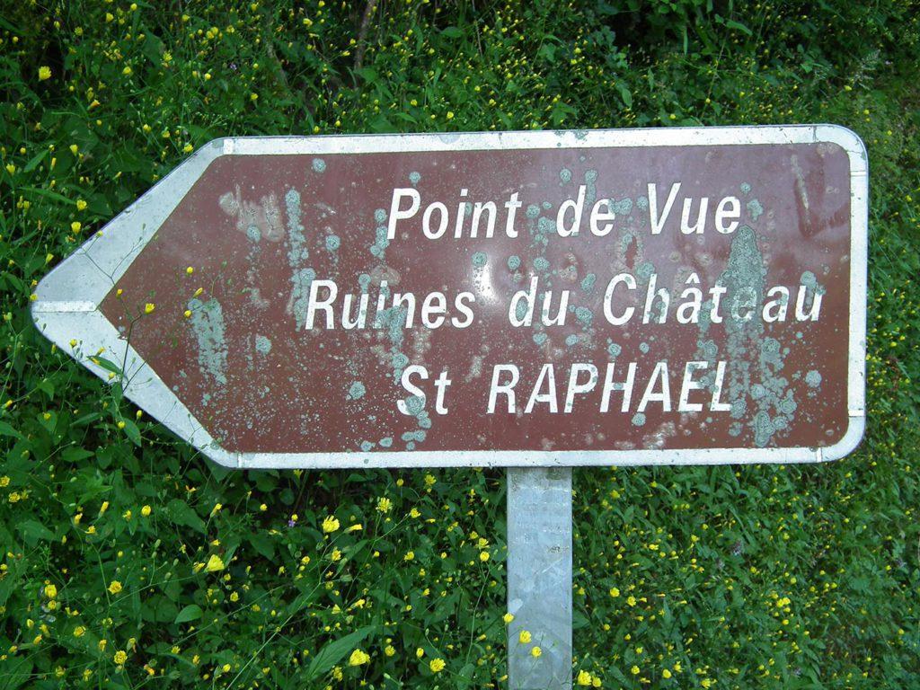 Panneau de signalisation à St Raphael
