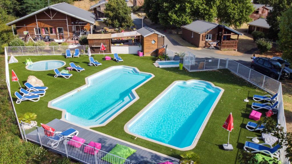 nouvelle piscine du camping